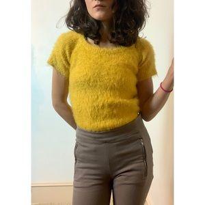 Fun & Fuzzy Yellow Top.